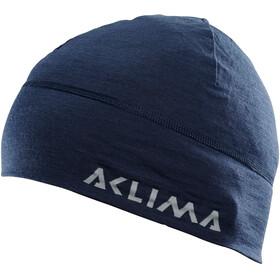 Aclima LightWool Muts met klep, blauw